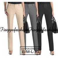 Celana Panjang wanita Standard Reguler chino- Krem/Abu/Hitam