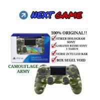 Stick New Dualshock 4 PS4 Original warna Green Camouflage - Army
