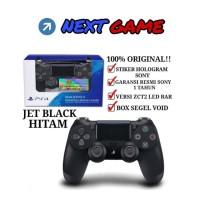 Stick PS4 New Dualshock 4 warna Jet Black - Hitam
