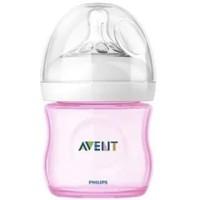 Botol Susu Bayi Philips Avent Natural Bottle Single Pink 125ml SCF691-