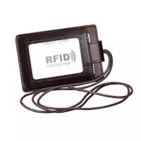 RFID PROTECTED / ID Card Holder RFID Kulit Asli Pria - WL083