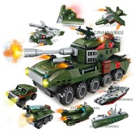 Lego Qman Enlighten Tank 1803 QM-09 Amphibious Panzer (8in1)