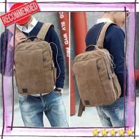 tas ransel pria wanita tas ransel backpack Kanvas USB Laptop (WYK13)