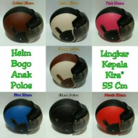 Helm Anak Polos - Ungu Hitam, 2-5Th