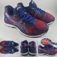asics gel nimbus 20 red navy carbon running shoes