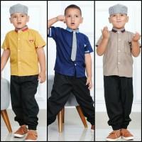Baju Koko Anak / Setelan Kemeja Baju Muslim Anak Laki Lengan Pendek