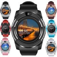V8 jam tangan pria Smart Bluetooth Sports Watch untuk Android TF sim C
