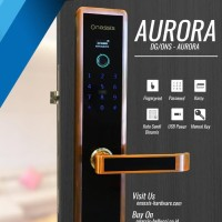 Digital Lock Onassis Aurora / Kunci Pintu Elektronik Mantab Dan Keren