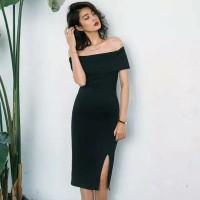 Sabrina Dress/ Katun Spandex Premium Korea Dress /Midi Dress 514 ( Siz