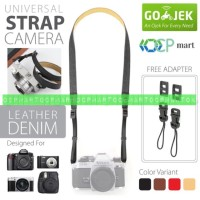 Leather Denim Strap Kamera Mirrorless Dlsr Slr canon fujifilm sony