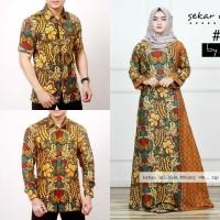 Gamis Batik Keluarga - Dress Muslim Wanita Modern - Couple Gamis Pesta
