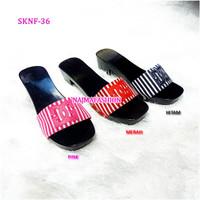 SKNF36 Sandal Kelom geulis model pacul kokop bluster Najma Fashion