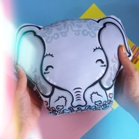 Custom Boneka Bantal Gajah Doodle Elephant Kado Ultah Wisuda Pacar