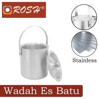 ROSH Wadah Es Batu Ekonomis 1.5 L Stainless Ice Bucket Double Wall ROS