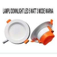LAMPU 5w PLAFON LED SLIM DOWNLIGHT LAMPU LED 5 watt PANEL 3 mode warna