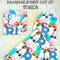 SUNNY CAT PAJAMAS CP TOSCA [Baju Tidur 0150]