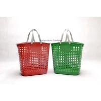 Keranjang Laundry / Keranjang Belanja / Keranjang Serbaguna Besar - Hijau