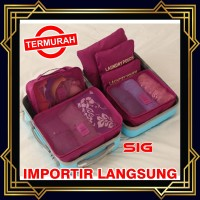 TRAVEL STORAGE BAG 6 IN 1 - Traveling Bag in Bag Organizer isi 6