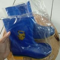 sepatu boot anak biru size 35