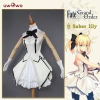Uwowo Anime Saber Lily Kostum Cosplay Dress FateStay Night Nasib