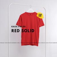 KAOS POLOS COTTON COMBED 30s - Size S M L XL - PENDEK - Warna Merah