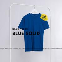 KAOS POLOS COTTON COMBED 30s - Size S M L XL - PENDEK - Warna Biru