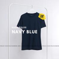 KAOS POLOS COTTON COMBED 30s - Size S M L XL - PENDEK - Warna Navy