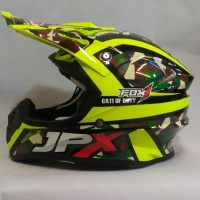 HELM JPX CROOS FULL FACE X 11 DUTY ARMY YELLOW FLUO X11
