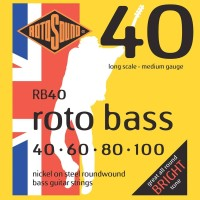 Rotosound RB 40 Nickel Bass Guitar Strings (40 60 80 100)