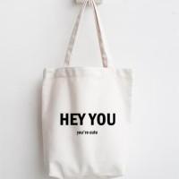 totebag quotes tas belanja lipat tas blacu dan kanvas recycle