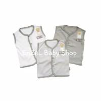 1 Set Baju Tgn Kutung Bis seri Abu 3pcs Newborn / baby FLUFFY / SNI