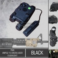 FMA Anpeq 15 Green Laser + Flashlight Black