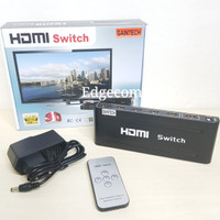 HDMI Switch 5x1 Remote+Adapter GAINTECH