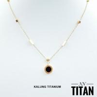 titanium kalung wanita lapis 24k 8c15