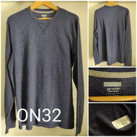 Kaos Lengan Panjang Old Navy Thermal Knit Waffle Original - ON32