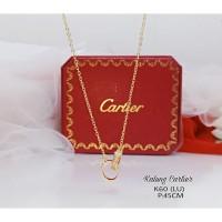 Kalung cartier double ring premium import