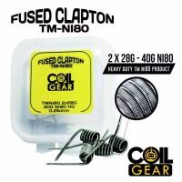 Coil Gear Fused Clapton TMNi80 4biji 2Pasang Coil Jadi kawat Vaporizer