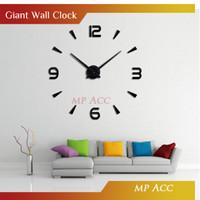 Jam Dinding Minimalis Eropa Besar Raksasa DIY 80-130cm Diameter