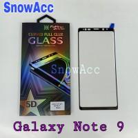Anti Gores Tempered Glass Full Cover Samsung Note 9 Full Glue Full Lem