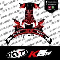 Decal Helm Kyt K2 rider blackant