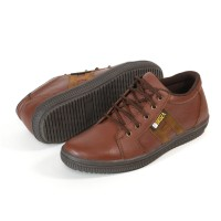 Sepatu Pria Sneakers Casual Kulit Asli Sketch Oringinal Fordza D905