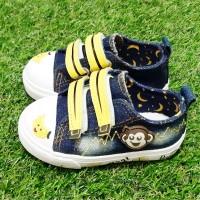 Sepatu Anak Import / Sneakers / Gambar Monkey / Kids / bahan denim