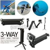 Gopro 3-Way Monopod Grip Arm Tripod Brica B-PRO Yi Action Camera