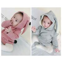 baju jumper kostum bunny kelinci pink lucu impor anak bayi perempuan