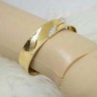 Gelang emas model bangkok