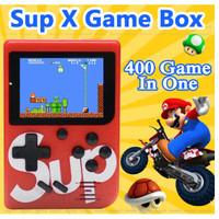 Game Box Sup X Gameboy 400 In 1 Games PLUS Retro FC Game 3 Inch - Hitam