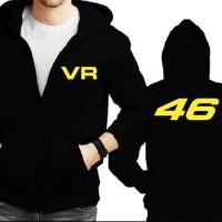 Jaket Hoodie Zipper Moto GP - VR46 Rossi 46 - Hitam JK3