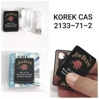 KOREK API USB 2133-71-2 JIM BIM JB LIGHTER CAS ELEKTRIK MANCIS