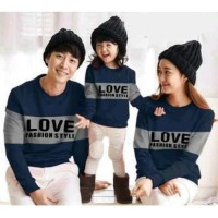 Hoodie Family Couple Baju Keluarga 1 Anak Lengan Panjang Love 11186