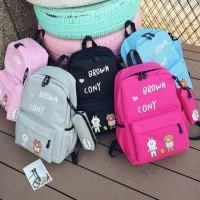 Promo Gila Tas Ransel Backpack Fashion Anak Cony Bear Free Pouch Murah